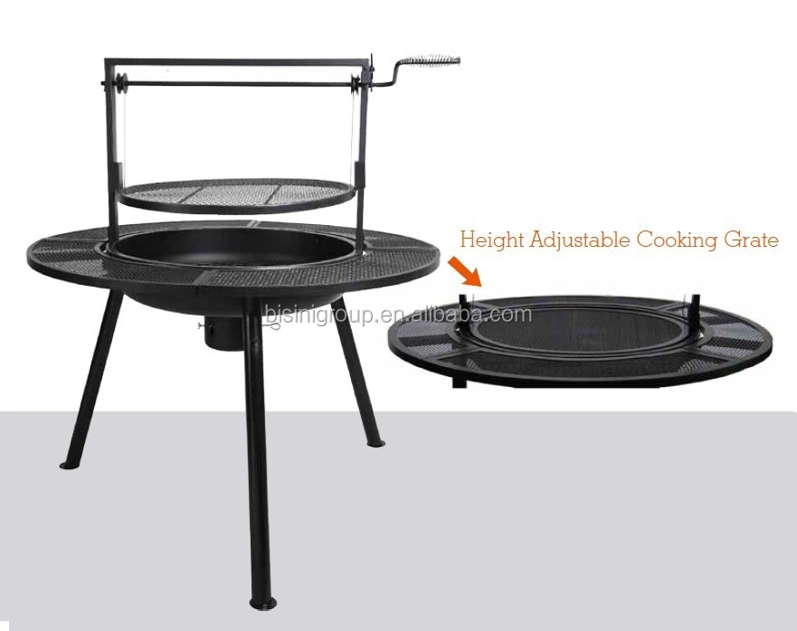 Adjustable Ponderosa Charcoal Barbeque Pit Bf10 M568