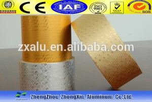 Gold and Silver rolling Tobacco aluminum foil paper roll for Inner cigarette packaging