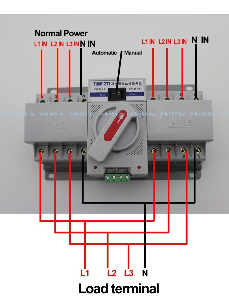 automatic transfer switches wiring diagram