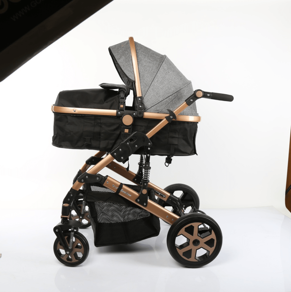 Twin Stroller In Dubai Classic Luxury High Landscape Baby Stroller Baby Carriage 3 In 1 Foldable Baby Stroller Pram Cool Baby Stroller In Dubai
