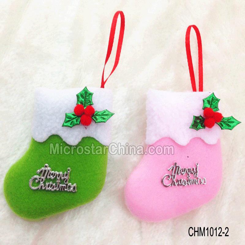 Hanging Mini Felt Christmas Stockings For Crafts \ Decorations - felt christmas decorations