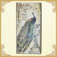2015 Rustic Shabby Chic Peacock Wooden Framed Artwork ...
