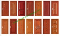 2016 New Design Mdf Solid Wooden Door Single Design Wooden