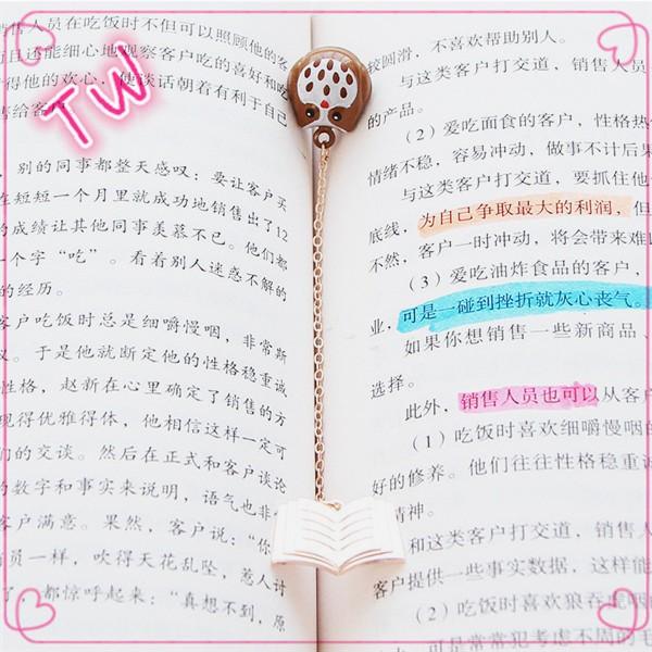 Custom Standard Magnetic Metal Bookmark Size,Long Chain Design Owl - bookmark size