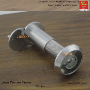 Brass Satin chrome 200 Degree door viewer, Door Peephole Viewer,wide angle with glass lens viewer