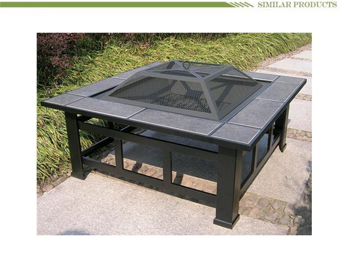 Multifunctionele Outdoor Vierkante Bbq Grill Stijl