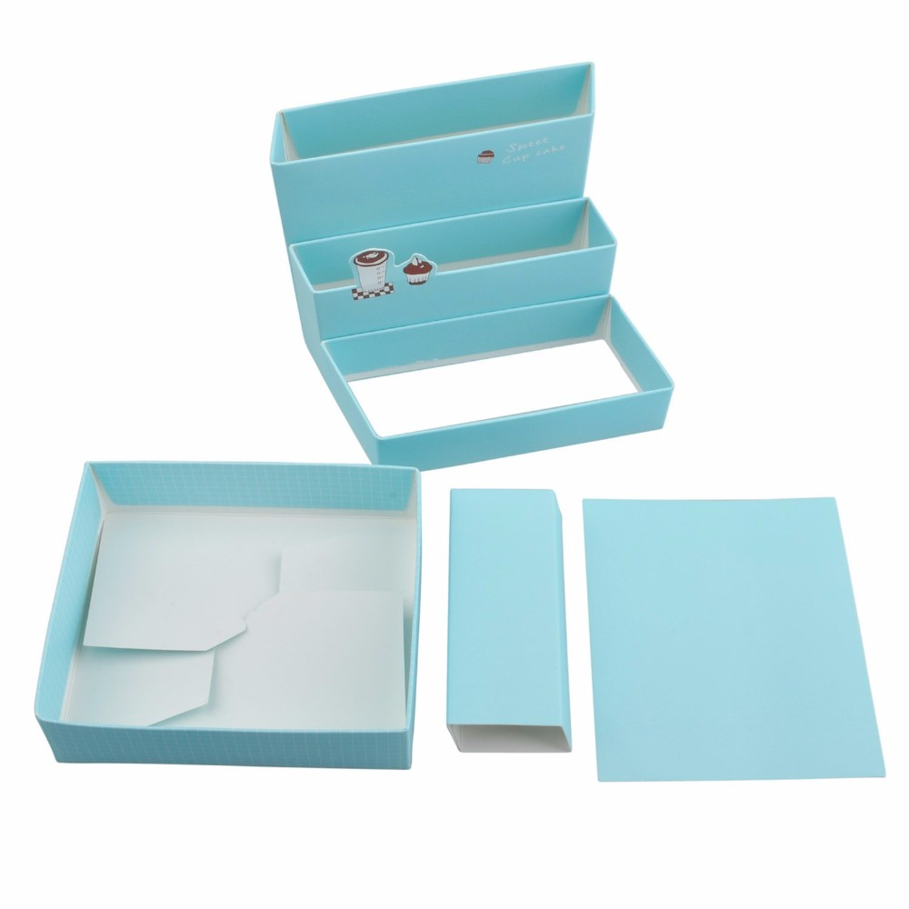 Stationary Boxes Diy Paper Board Storage Box Desk Organizer Stationery Cosmetic Box Buy Decorative Stationery Boxes Folding Organizer Box Board Game Storage Boxes