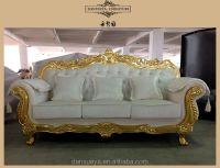 Nailhead Velvet Sofa,Golden White Wedding Sofa,Luxury