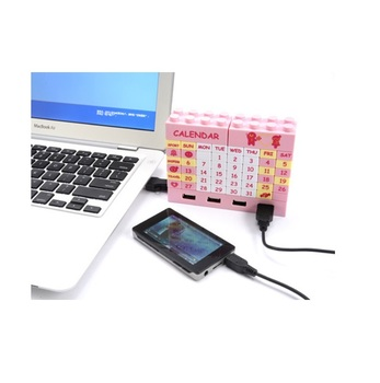 Changeable DIY Perpetual Calendar With 4 Ports USB 20 Hub,2-in-1