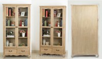 living room showcase glass doors design cabinet / wooden ...