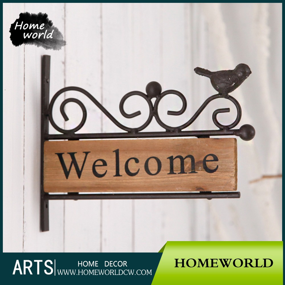 Decoration Vintage Americaine Artificial Vintage Home Decorative Welcome Hanging Wood Sign Buy