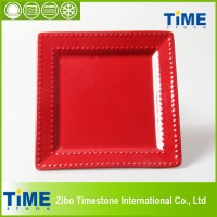 Red Square Plastic Plates & Red Glass Plates Red Square ...