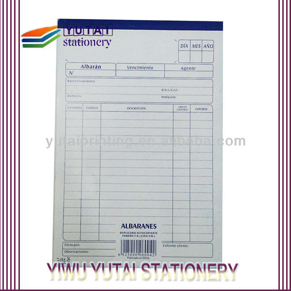 Airway Invoice Printing Bill Of Sale Form