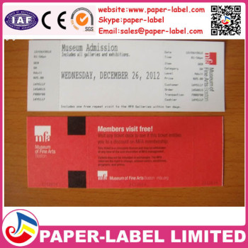 Security Printing Paper Tickets - Buy Cheap Header Card Printing - printable ticket paper