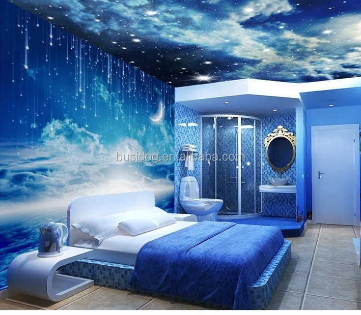 3d Wallpaper For Bedroom Wall India 3d Effect Outer Space Wall Mural Wallpapers For Home