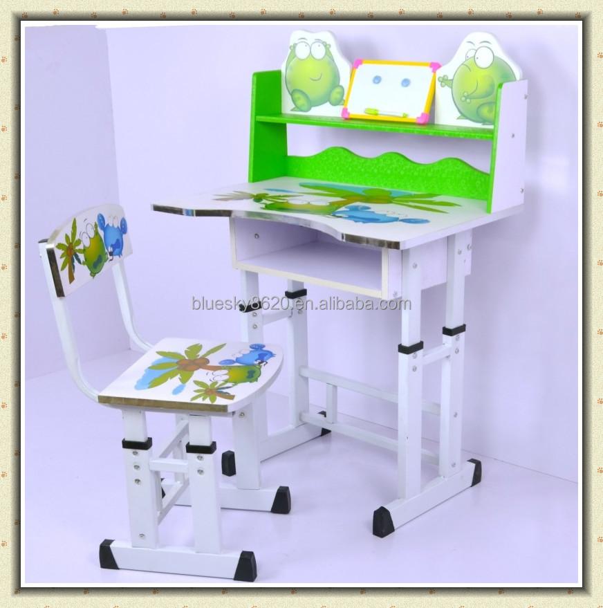 Adjustable carton folding children kids study table and