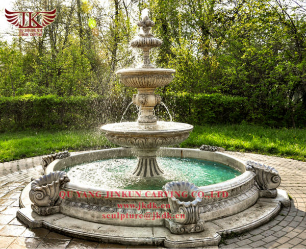 Outdoor Supplier Manufacturer Large Marble Water Fountains For Garden Decoration With
