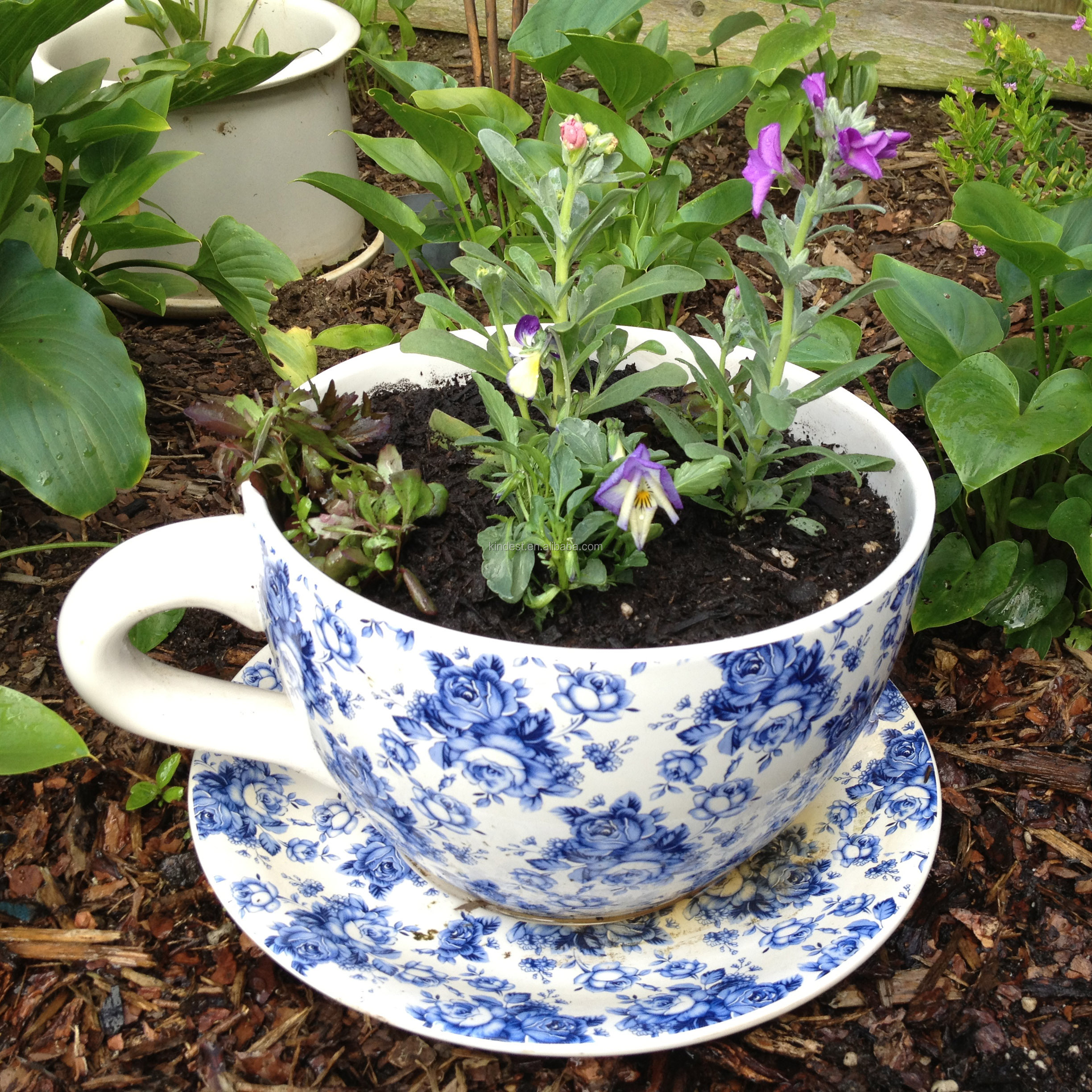 Large Tea Cup Planter Ceramic Tea Cup Garden Flower Planter Large Teacup Decorative Outdoor Ceramic Flower Pot Buy Tea Cup Garden Planter Large Teacup Decorative Outdoor