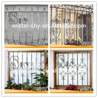 Decorative Square Wrought Iron Window Decor