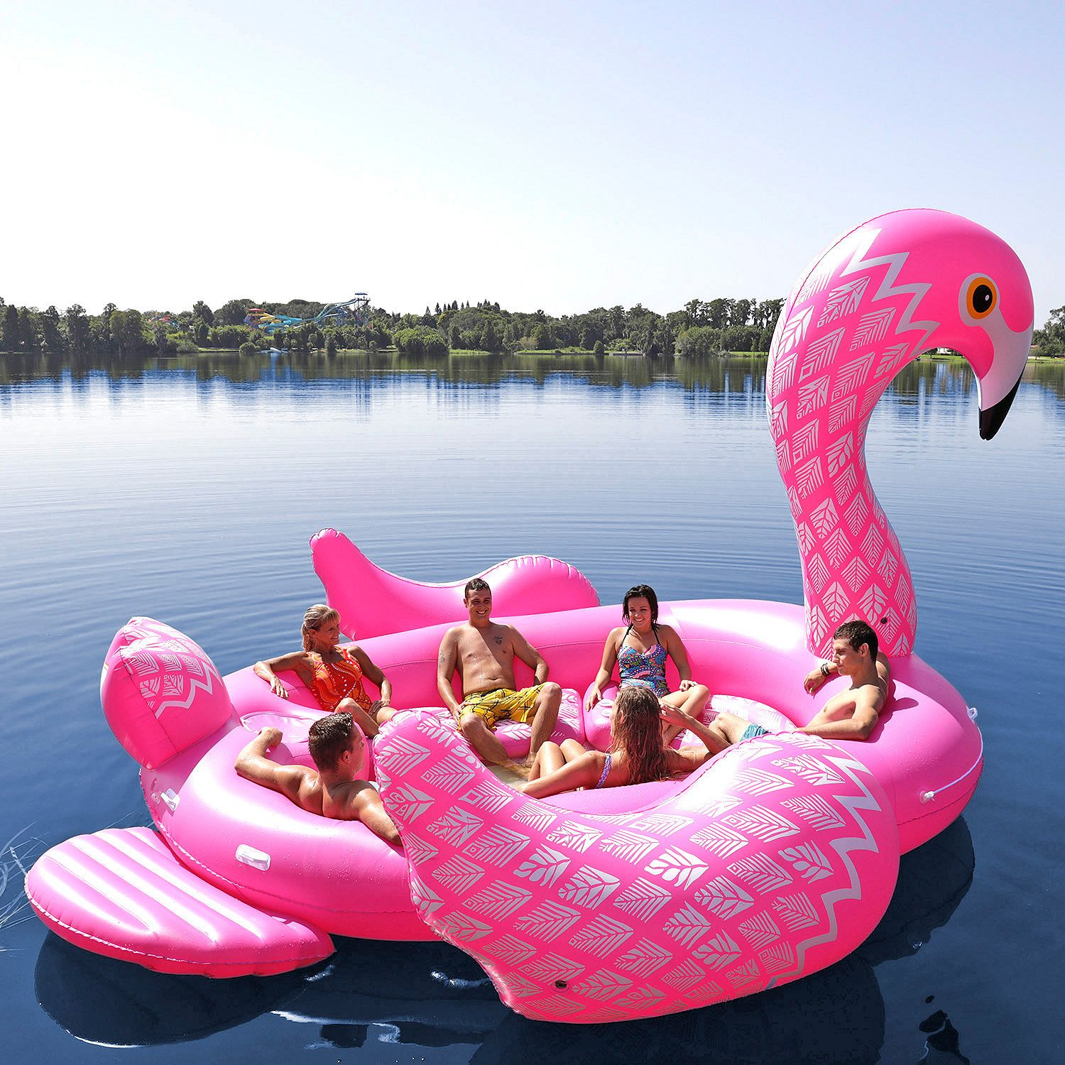 Opblaasbaar Eiland Zwembad 2018 New Customized Big Inflatable Flamingo Unicorn