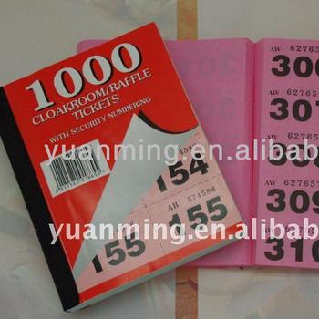 book of raffle tickets - Towerssconstruction