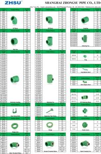 Zhsu Ppr Pipe Fittings Sizes Chart - Buy Ppr Pipes And ...