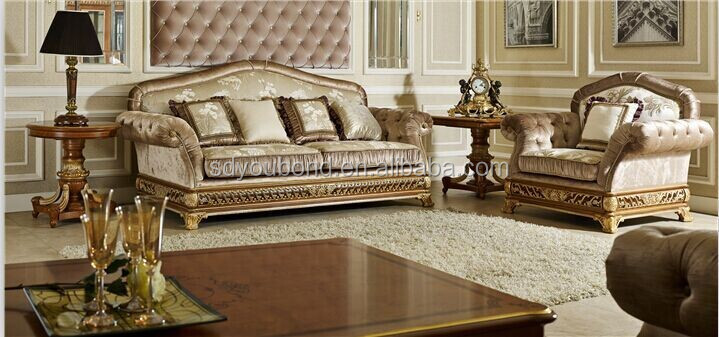 0062 Italian Luxury Living Room Furniture,New Model Wooden Classic - italian living room sets