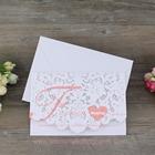 Embossing Laser Cut Pocket Design Wedding Invitation Card