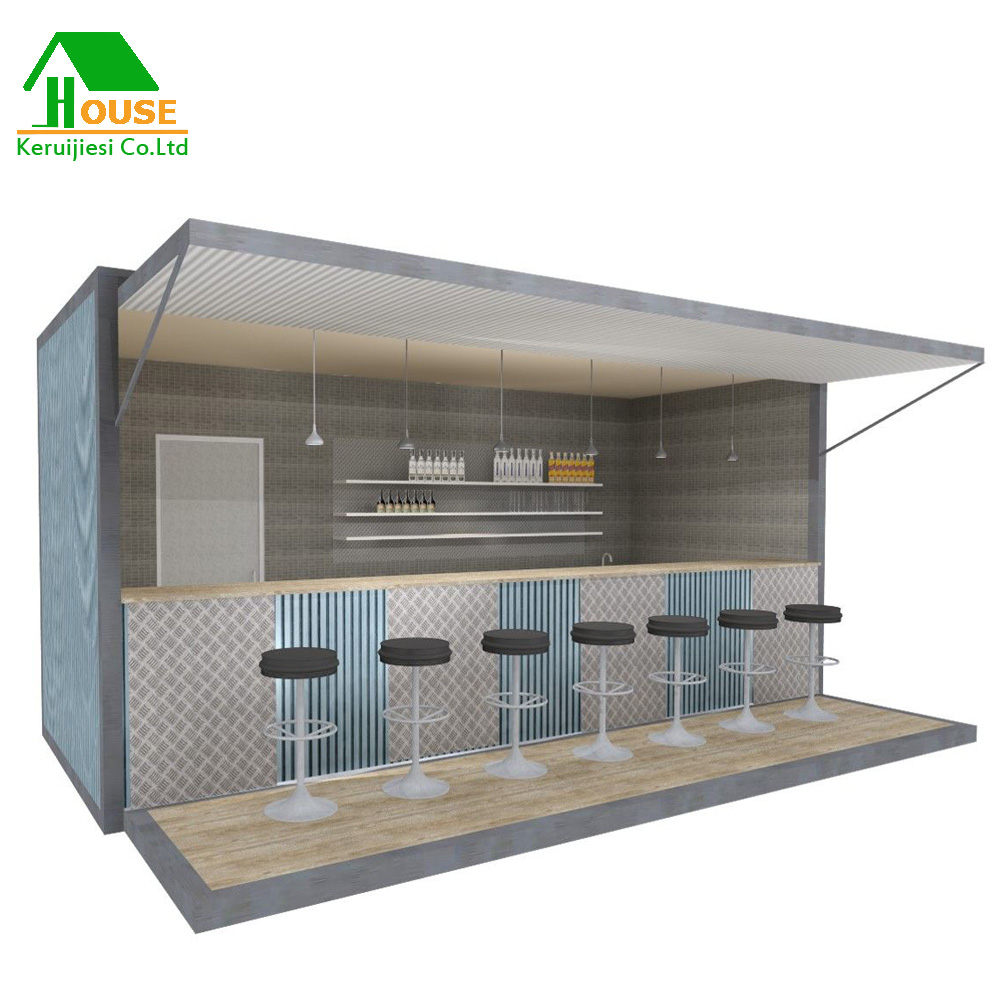Desain Cafe Container Mobile Container Restaurant Portable Container Bar Prefabricated Bar