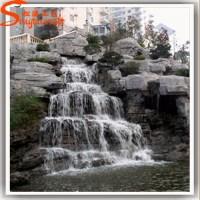 Reliable Fiberglass Artificial Rock Waterfall Indoor ...