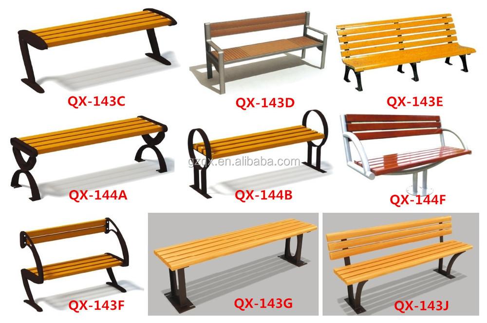 European Style Commercial Outdoor Furniture Bench Garden