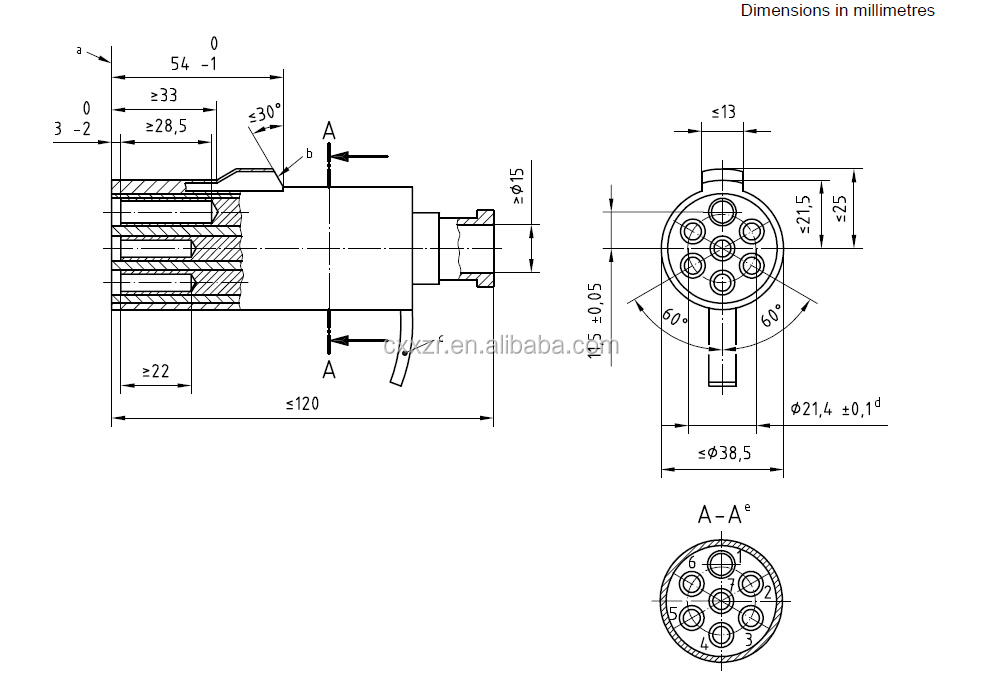 6 Pole Trailer Connector Wiring Diagram 12v Or 24v Spiral Cable Tractor Trailer Cable Towing