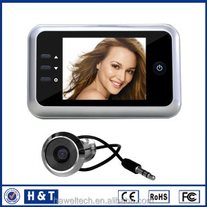 2015 hot selling door camera recorder peephole door viewer With interal memory