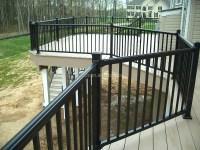 Balcony Modern Design Glass Stair Railing Aluminum ...