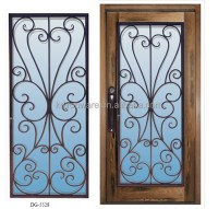 2015 Popular Wrought Iron Metal Main Entrance Doors Grill ...