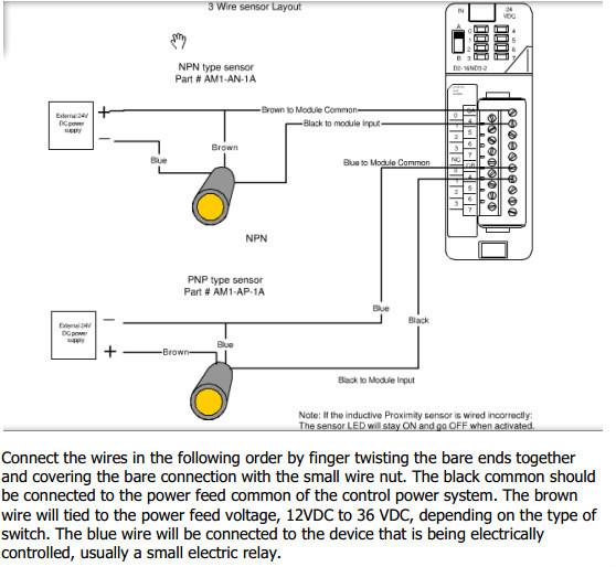Sensor Npn Switch Wiring 4 Wires Npn Proximity Switch Wiring Index