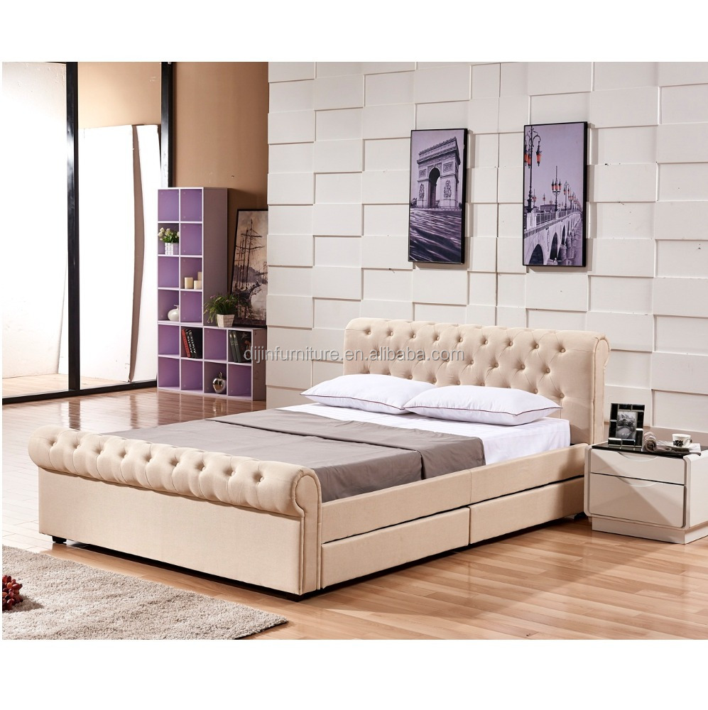 Bed Designs 2017 2017 New Design High Quality Upholstered Fabric Bed With 4 Drawers Buy Fabric Storage Bed Quality Sleigh Beds Double Bed Designs Product On