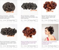 Synthetic Hair Pieces For Updo,Beauty Salon Show Wig Hair ...
