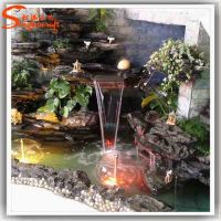 Home Waterfall Fountains Decorative Glass Indoor Fountain ...