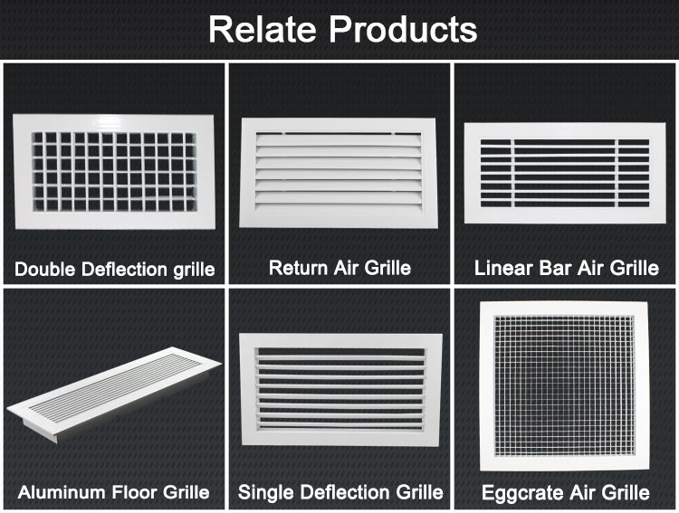 Air Conditioning Aluminum Window Louver Exhaust Air Grille Air