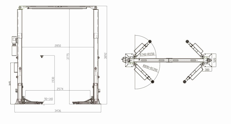 Two Post Car Lift / Pump For Car Lift/ Hydraulic Car Lift Kit(ss