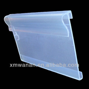 Clear Label Backers Plastic Price Holder For Supermarket