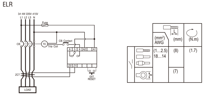 earth fault relay wiring diagram
