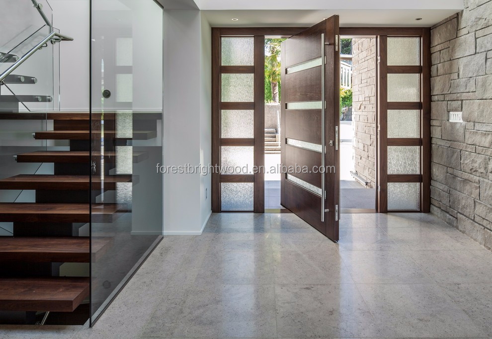 Us Villa Main Entry Door Modern Design Pivot Wood Doors