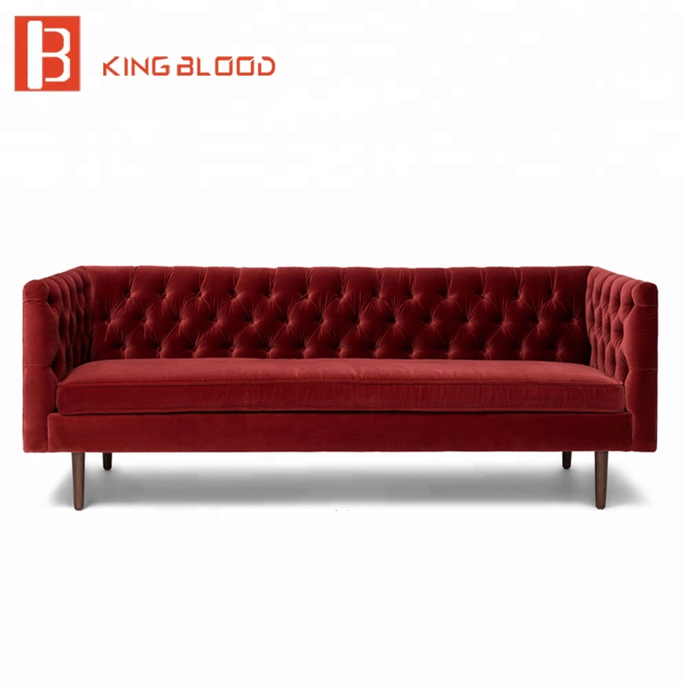 Bilder Zu Wohnzimmergestaltung Button Tufted Velvet Fabric 3 Seat Couch Living Room Furniture Sofa View Couch Living Room Sofa Kingblood Product Details From Foshan Kingblood