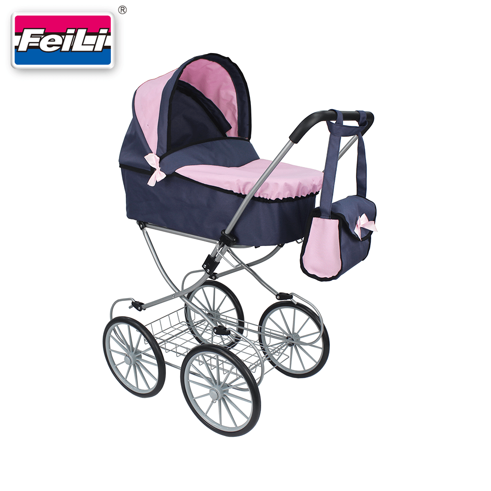 Infant Dolls Pram Fei Li Stroller New Arrival 2019 Classical And British Doll Pram With 4 Big Wheels Buy Doll Prams Toys Dolls Prams Dolls Buggy Product On