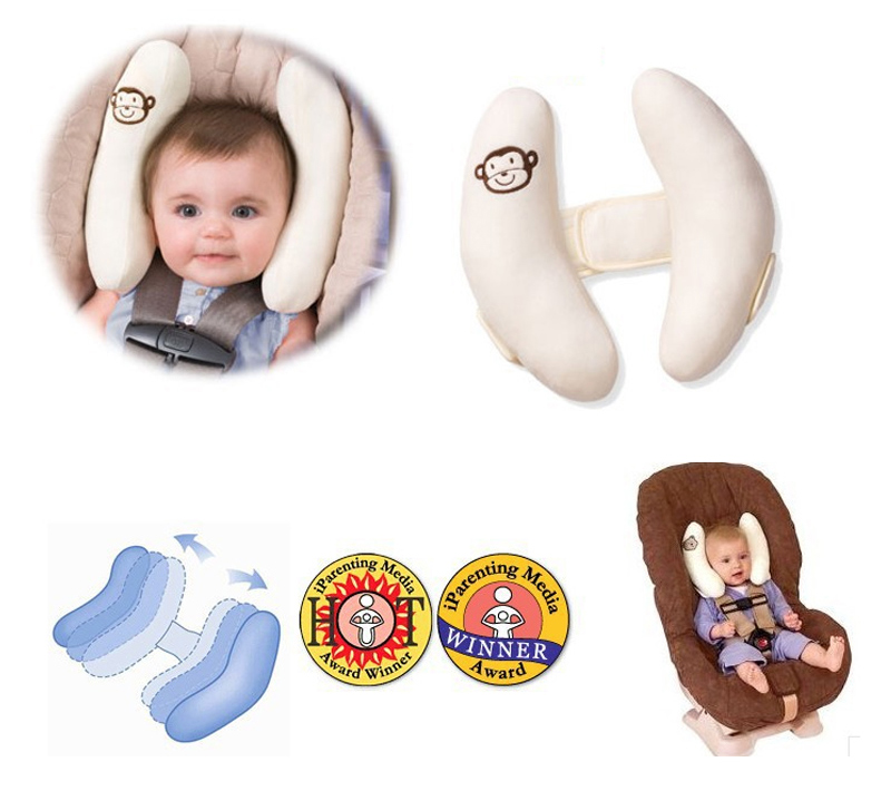 Infant Car Seat Neck Support Pillow Baby Toddler Infant U Shaped Head Neck Support Travel Car