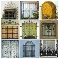 Decorative Iron Window Bars Design Steel Window Frames ...