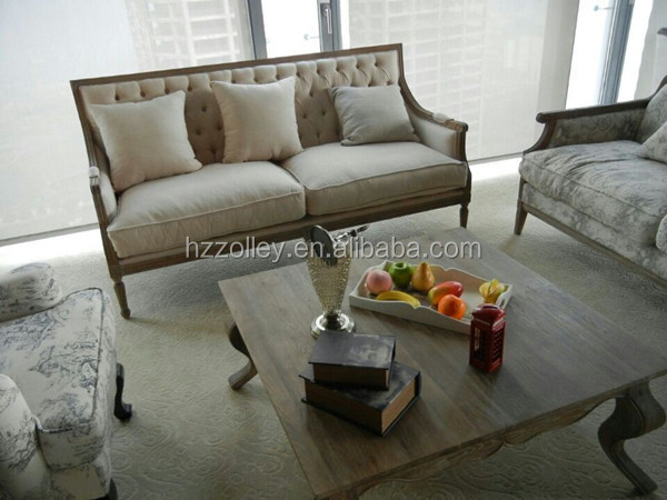 China Classic Furniturefive Star Hotel Hobby Lobby Lounge Sofa Couchfrench Provincial Sofa