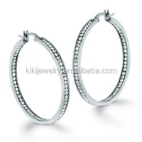 Fashion Stainless Steel Pierced Self Piercing Hoop ...